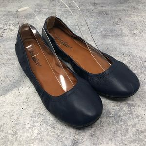 Lucky Brand Emmie Navy Leather Ballet Flats 9